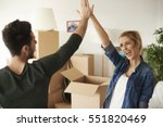happy and young couple giving...   Shutterstock . vector #551820469