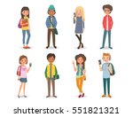 group of international students ... | Shutterstock .eps vector #551821321