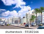 Alexandria city- urban view, Egypt. - stock photo
