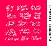 set of handwritten lettering...   Shutterstock . vector #551826244