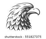 eagle head   vector... | Shutterstock .eps vector #551827375