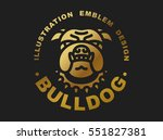 Bulldog Head Logo   Vector...