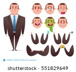 emotion faces.emoji face icons... | Shutterstock .eps vector #551829649