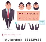 man character for scenes.parts... | Shutterstock .eps vector #551829655
