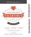 happy valentine's day party...   Shutterstock .eps vector #551832037