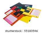 floppy disks are on a white... | Shutterstock . vector #55183546