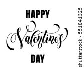 happy valentine day greeting... | Shutterstock .eps vector #551841325