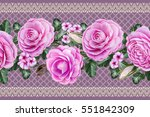 horizontal seamless border....   Shutterstock . vector #551842309