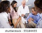 professor wearing lab coat... | Shutterstock . vector #55184455
