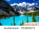 moraine lake in banff national... | Shutterstock . vector #551850271