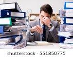 busy businessman under stress...   Shutterstock . vector #551850775
