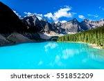 moraine lake in banff national... | Shutterstock . vector #551852209
