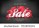 valentines day sale background... | Shutterstock .eps vector #551853241