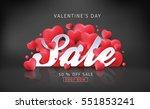 valentines day sale background... | Shutterstock .eps vector #551853241