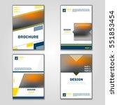 business vector set. brochure... | Shutterstock .eps vector #551853454