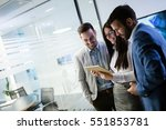 business people having fun and... | Shutterstock . vector #551853781