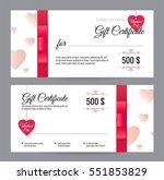 gift voucher coupon discount... | Shutterstock .eps vector #551853829