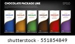 chocolate package line ... | Shutterstock .eps vector #551854849