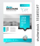 brochure cover design layout... | Shutterstock .eps vector #551855197