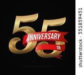 55 years anniversary golden... | Shutterstock .eps vector #551859451
