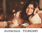 portrait of beautiful young... | Shutterstock . vector #551862685