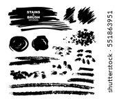 ink brush strokes set isolated... | Shutterstock .eps vector #551863951