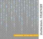 glowing glitter light effects... | Shutterstock .eps vector #551874289