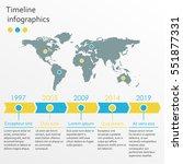 world map infographics template.... | Shutterstock .eps vector #551877331