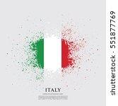 flag of italy  brush stroke...   Shutterstock .eps vector #551877769