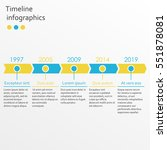 timeline infographics template... | Shutterstock .eps vector #551878081