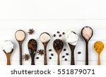 homemade coconut products on... | Shutterstock . vector #551879071