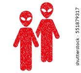 aliens grainy textured icon for ...   Shutterstock .eps vector #551879317