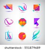 vector set of abstract logos ... | Shutterstock .eps vector #551879689