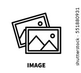 image icon or logo in modern... | Shutterstock .eps vector #551880931
