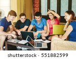 group of young people sitting...   Shutterstock . vector #551882599