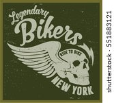 vintage biker graphics and... | Shutterstock .eps vector #551883121