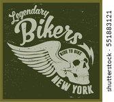 vintage biker graphics and... | Shutterstock .eps vector #551883121