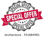 special offer. stamp. sticker.... | Shutterstock .eps vector #551884981