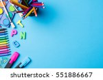 overhead shot of school... | Shutterstock . vector #551886667