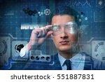futuristic vision concept with... | Shutterstock . vector #551887831