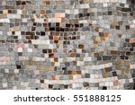vintage wall mosaic with...   Shutterstock . vector #551888125