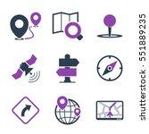 gps   navigation icons   Shutterstock .eps vector #551889235