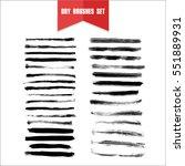 vector hand drawn grunge dry... | Shutterstock .eps vector #551889931