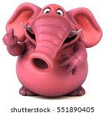 Pink Elephant   3d Illustration
