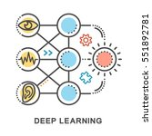 deep learning icons. mini... | Shutterstock .eps vector #551892781