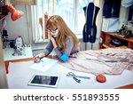fashion designer drawing