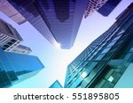 san francisco skyscrapers low... | Shutterstock . vector #551895805