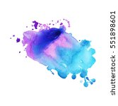 abstract hand drawn watercolor... | Shutterstock .eps vector #551898601