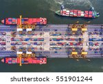 container container ship in...   Shutterstock . vector #551901244