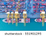 container container ship in... | Shutterstock . vector #551901295